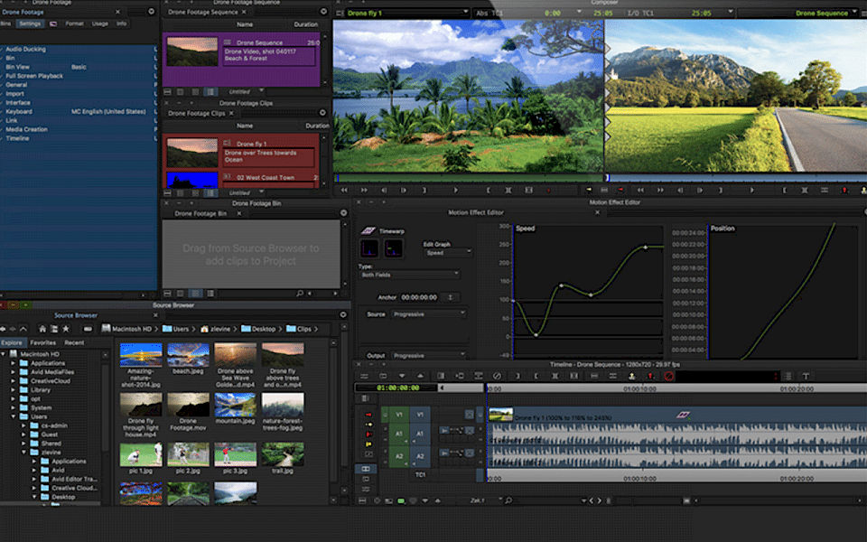 Screenshot of Media Composer First software running on Windows 10.