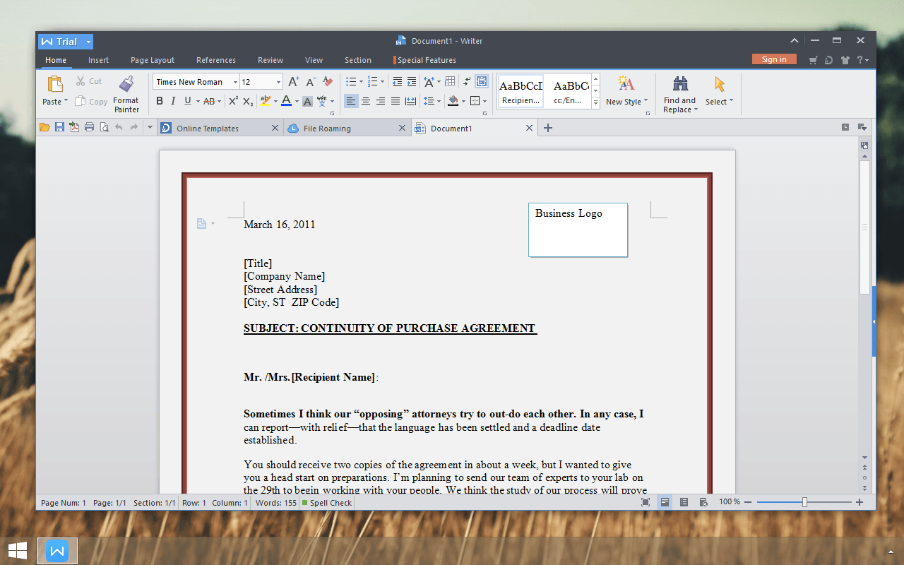 WPS download for PC - free office suite