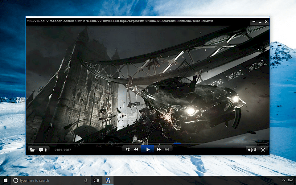 Screenshot of AllPlayer software running on Windows 10.