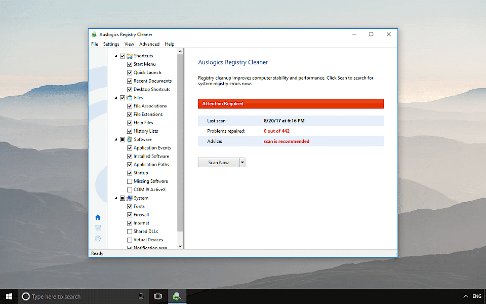 Auslogics Registry Cleaner Download