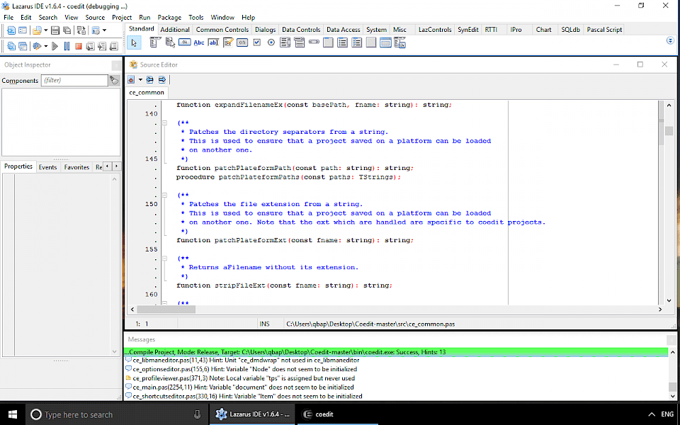 Screenshot of CodeTyphon software running on Windows 10.