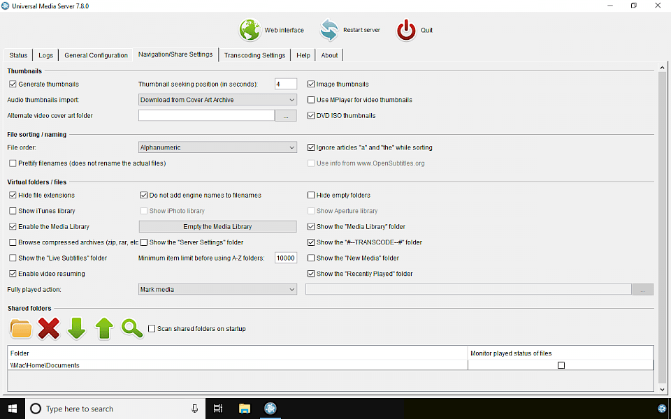 Universal Media Server Download