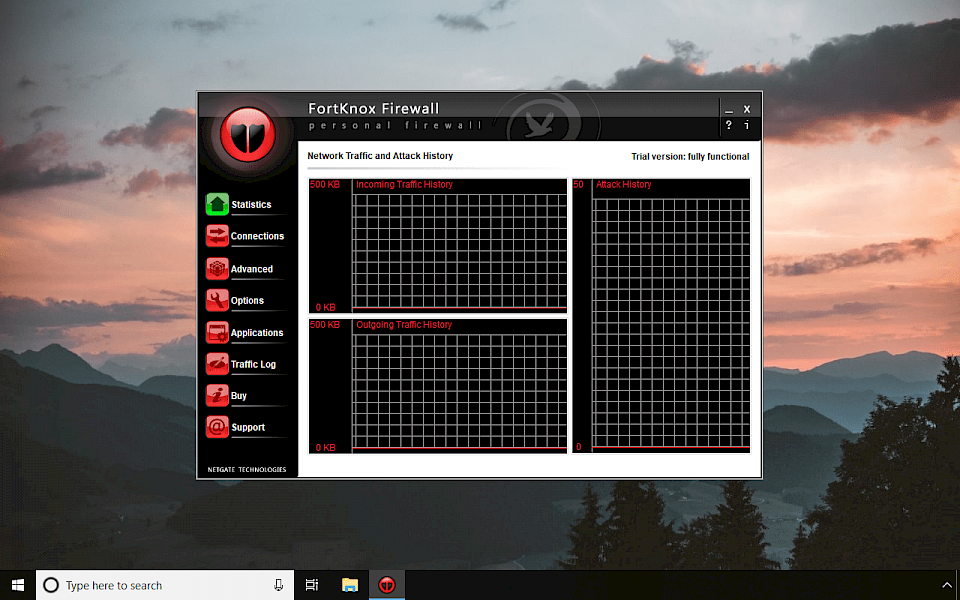 FortKnox Firewall installed on Windows 10 screenshot