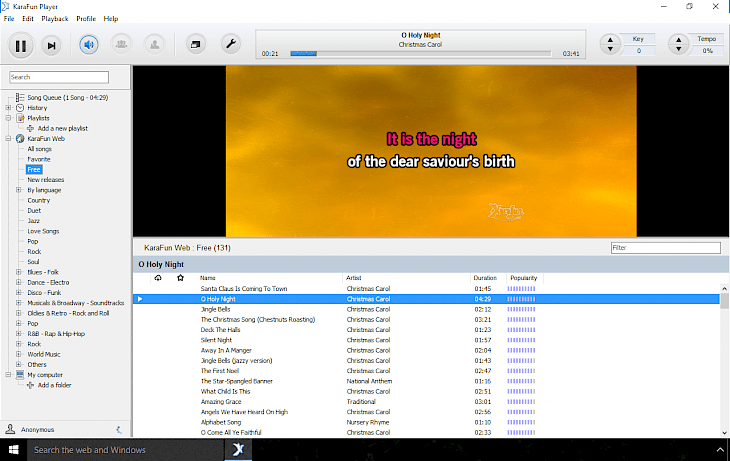 Free Karaoke Software - KaraFun Player