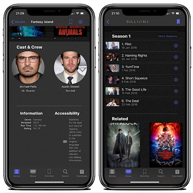 Popcorn Time app on iPhone