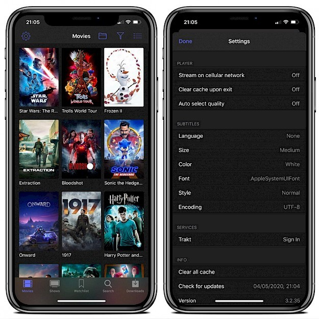 PopcornTime for iOS installed on iPhone