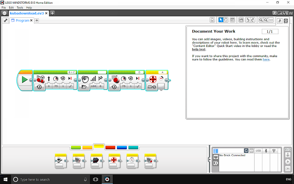Lego Mindstorms programming software. Block and text-based languages