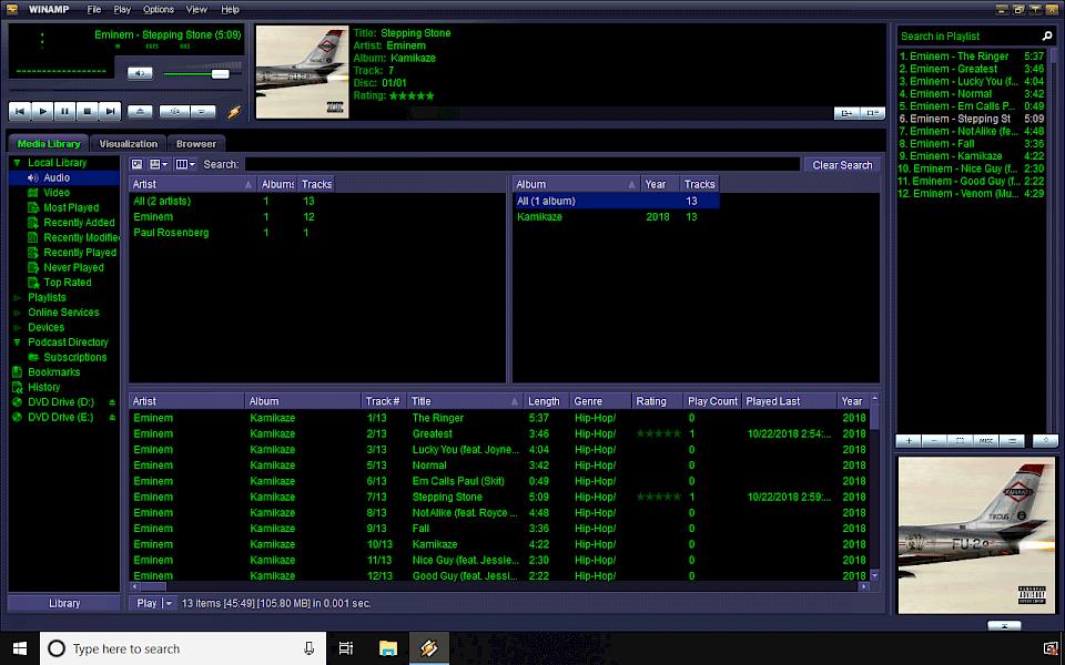 winamp download free for windows 10 64 bit