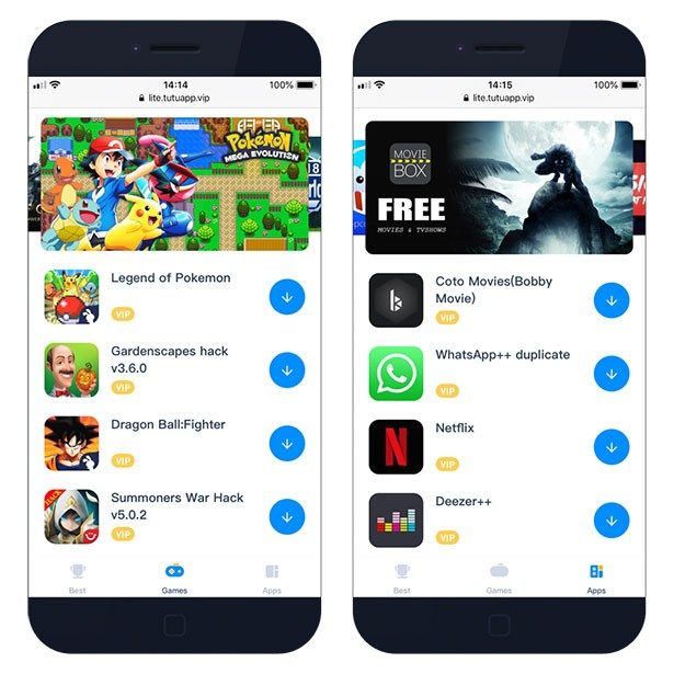 Tutuapp for iOS – download VIP and free App Installer