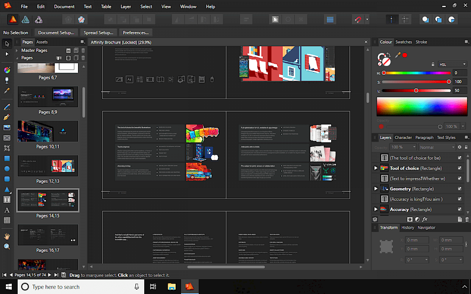 Affinity Publisher screenshot Windows 10