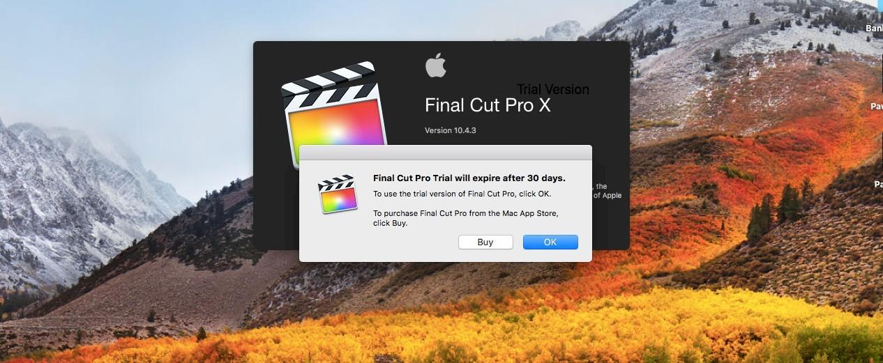 final cut pro x free trial limitations