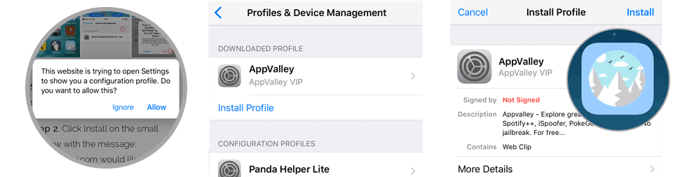 Install AppValley iOS App Store