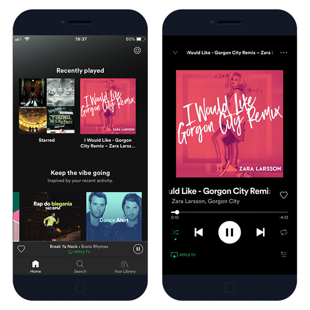 Spotify++ IPA installed on iOS 12