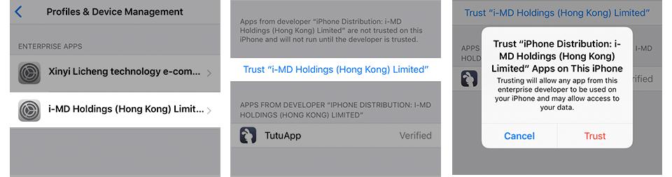 How to fix Untrusted Enterprise Developer on iOS