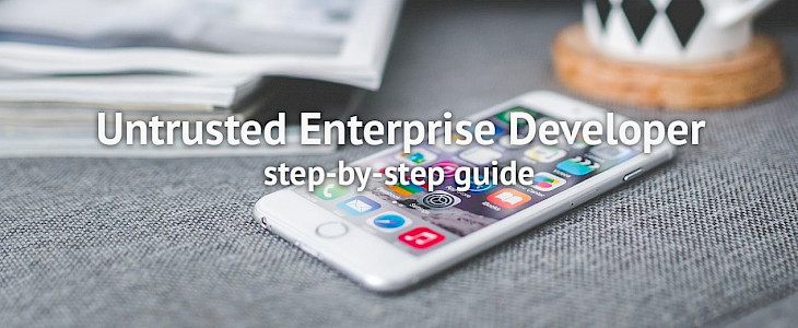 How to fix Untrusted Enterprise Developer on iOS