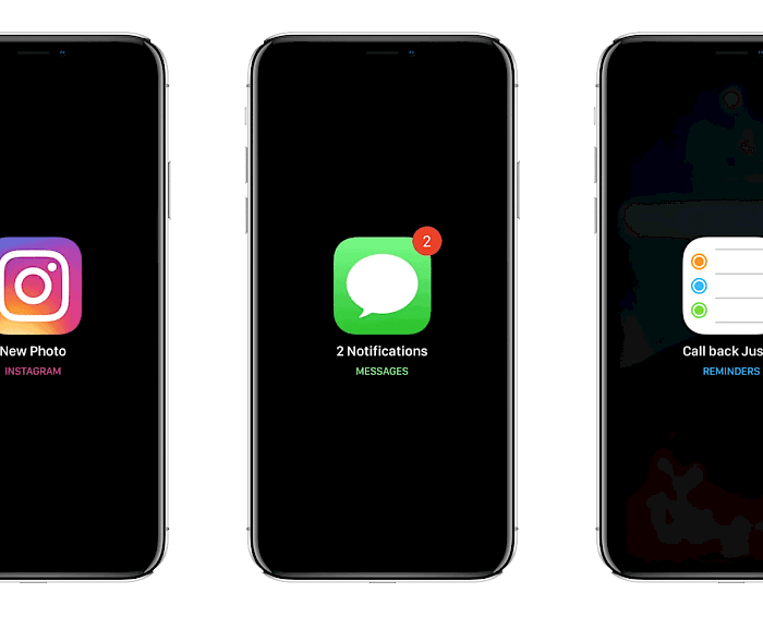 Notification system for iOS 12