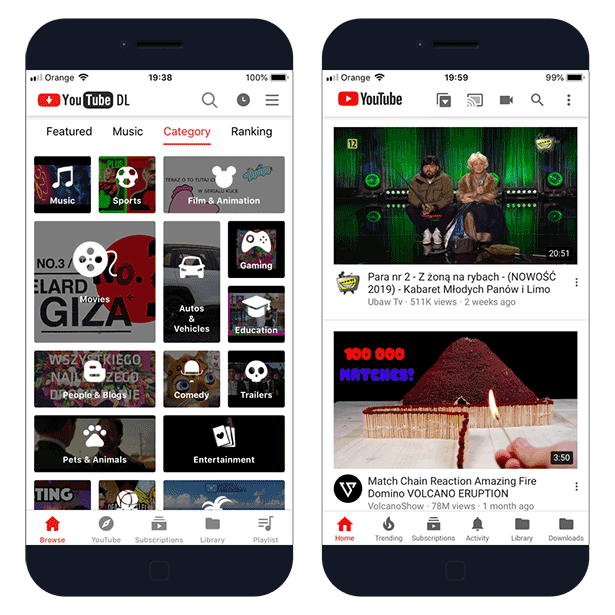 YouTube++ and YouTube Download on iOS 12