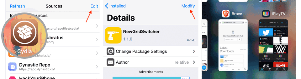 Native app switcher for iOS