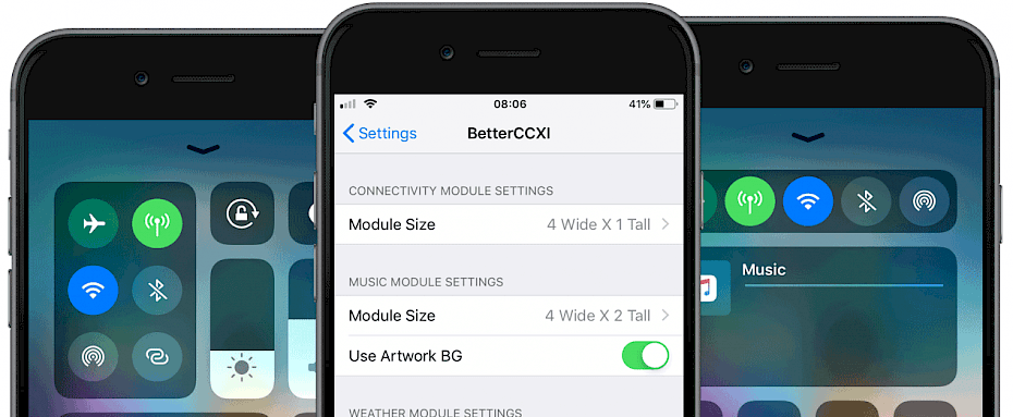BetterCCXI for iOS - the enhanced Control Centre