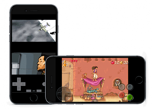Happy Chick running GBA game on iOS
