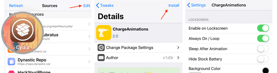 How to install ChargeAnimations
