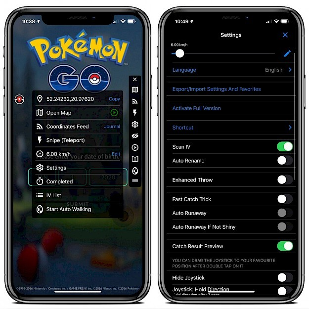 iSpoofer for POGO on iOS 13