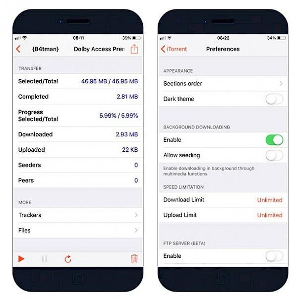 iTorrent IPA app - download Torrents on iPhone