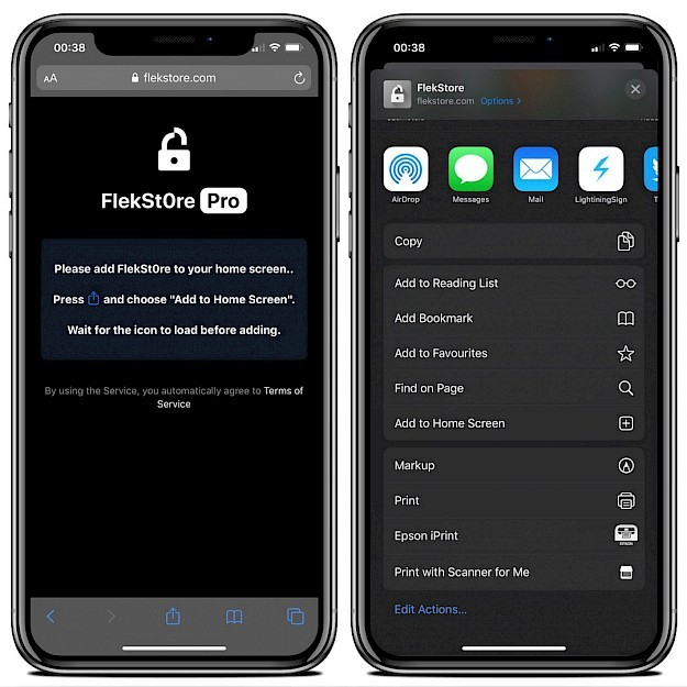 Install FlekStore Pro on iPhone