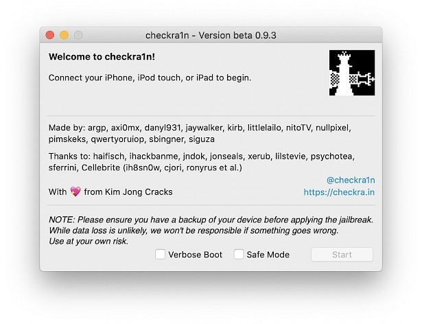 checkra1n Jailbreak Tool on Mac