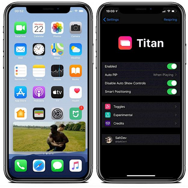 Titan tweak